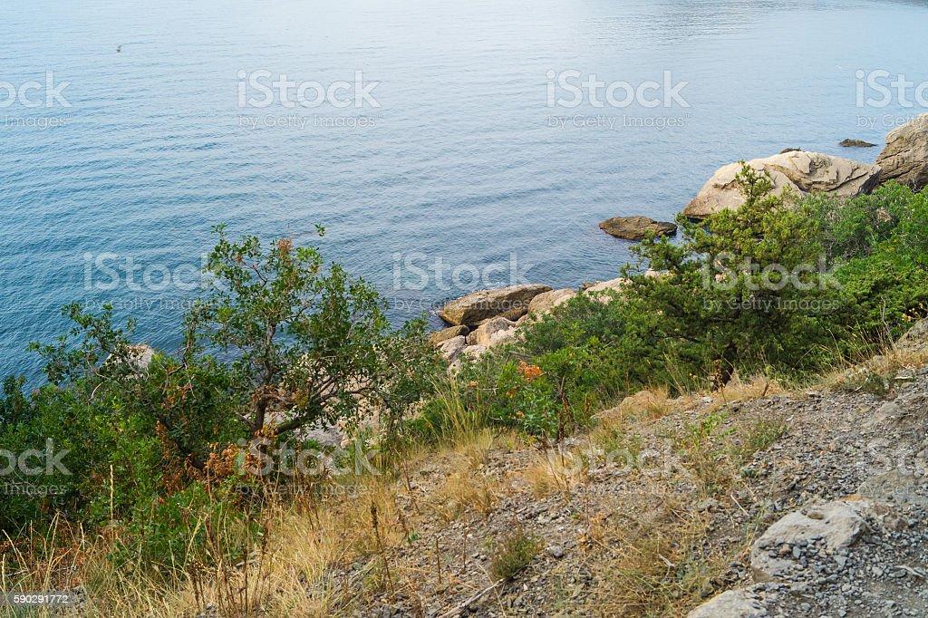 Морской вид из в берег Стоковые фото Стоковая фотография