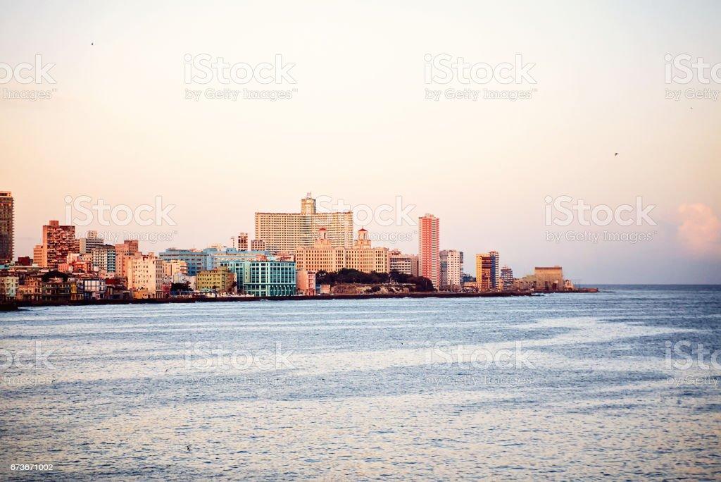 Sea view hotel Nacional de Cuba Malecon Atlantic Ocean Latin America stock photo