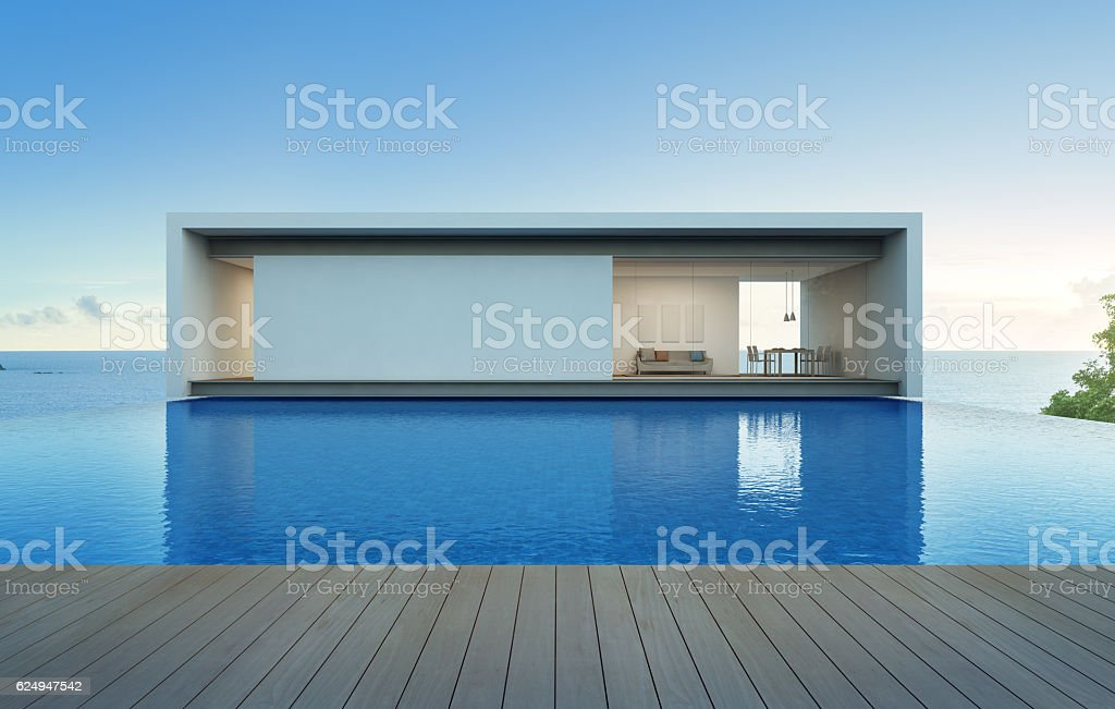 Sea view house with pool and terrace, Luxury holiday villa