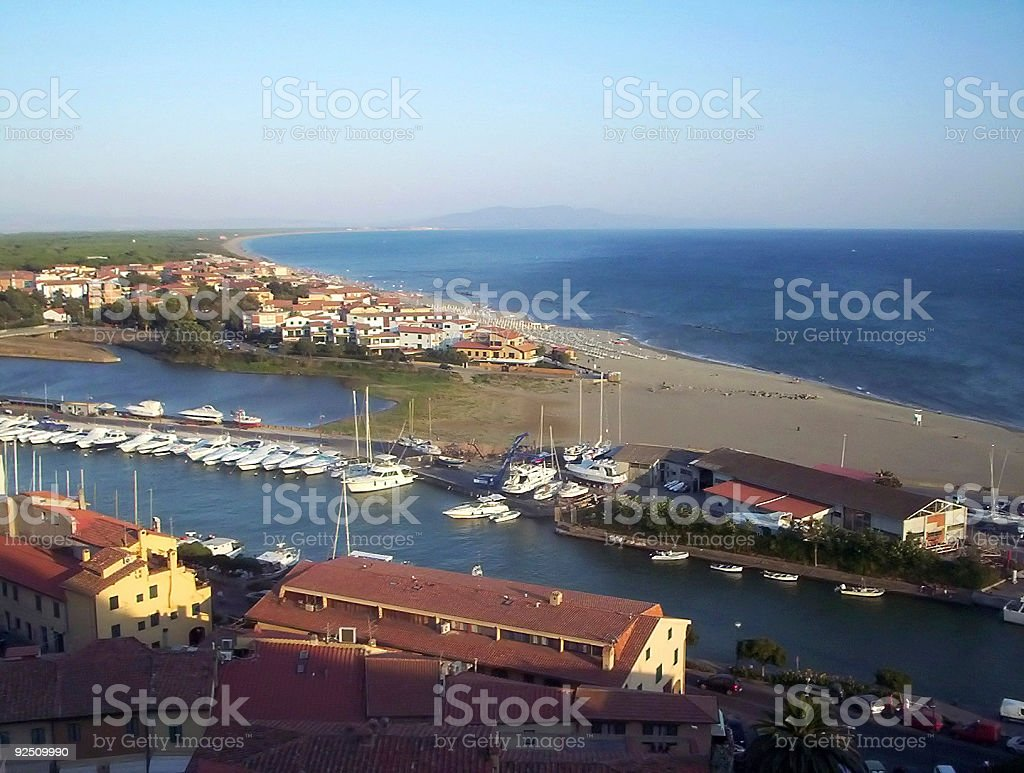 Sea view in Italy royalty-free stock photo
