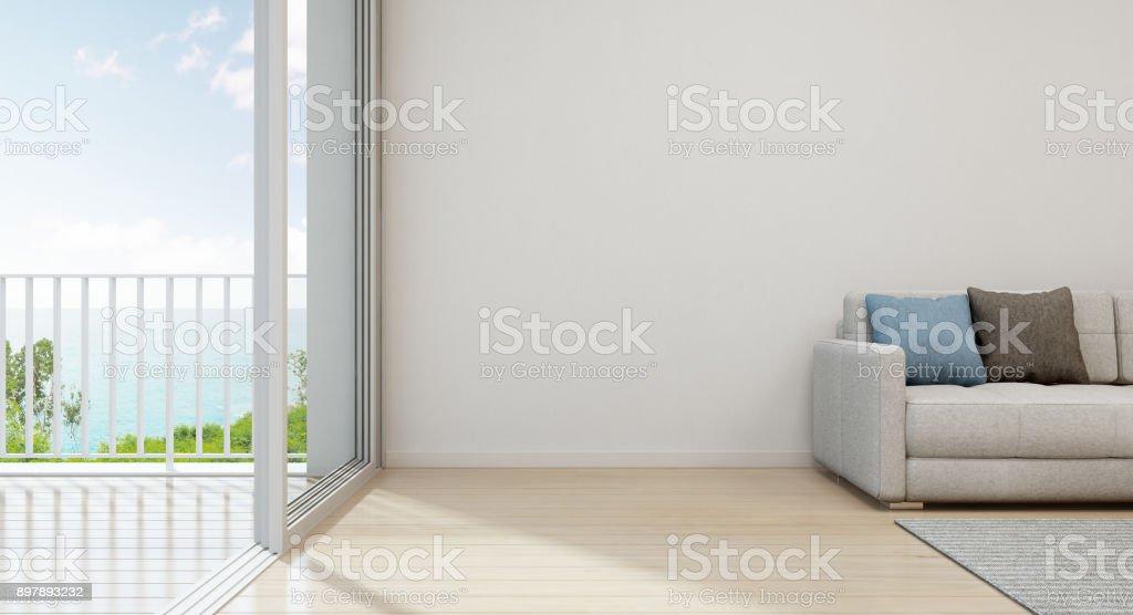 Meer Blick Wohnzimmer Luxusstrandhaus Mit Modernen Möbeln In Der - Wohnzimmer glastür