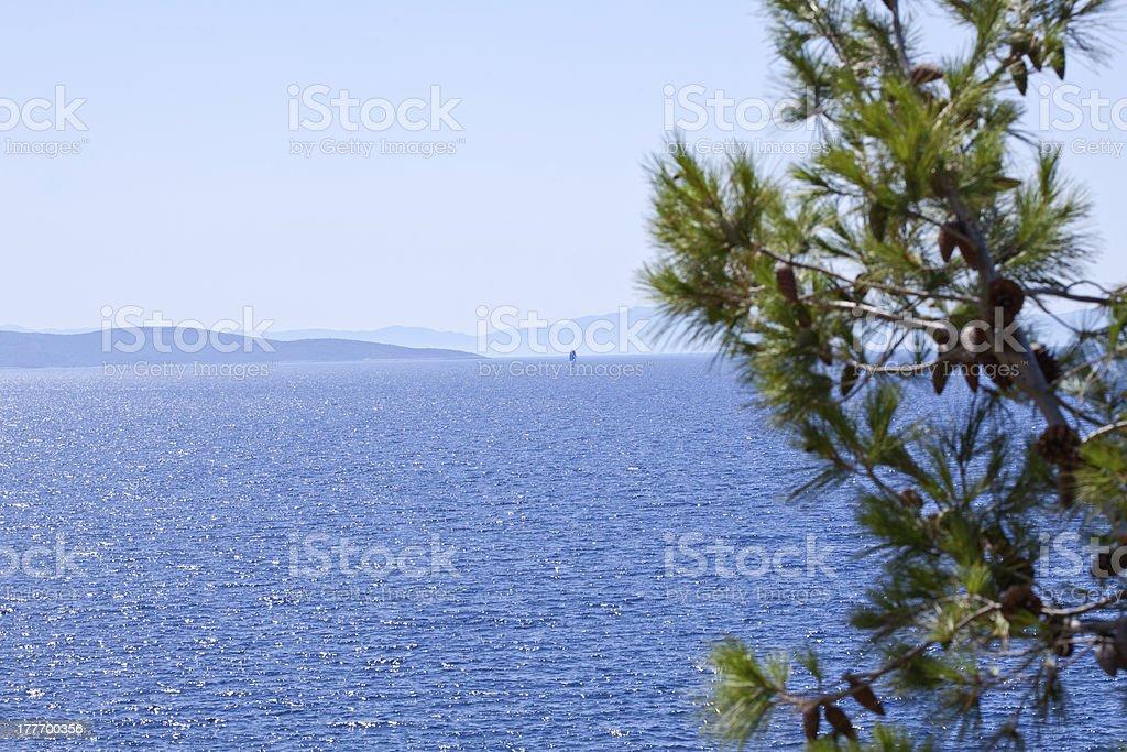 Sea view royalty-free stock photo