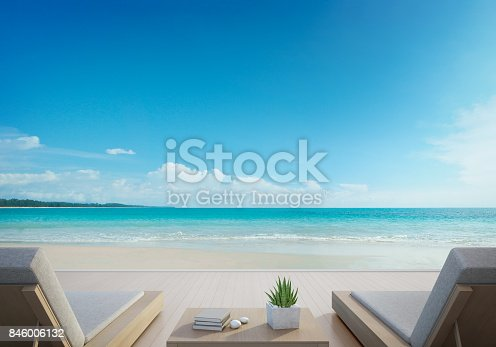 3d rendering of outdoor furniture on wooden floor