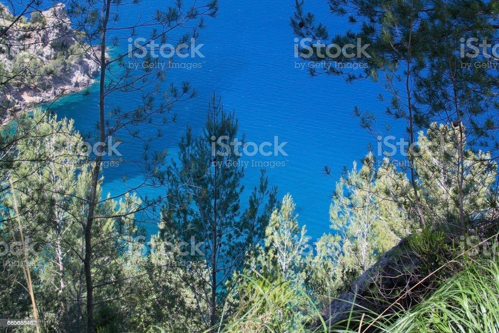 Sea view Tramuntana mountains Mallorca royalty-free stock photo