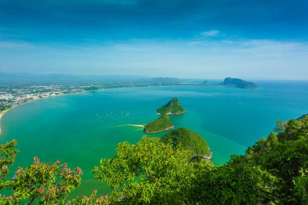 Sea views Prachuap Bay stock photo
