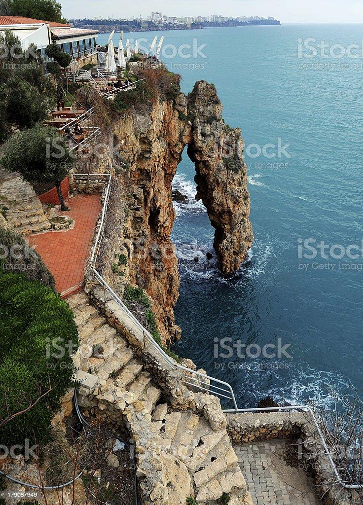 Sea Wall at Antalya, Turkey royalty-free stock photo