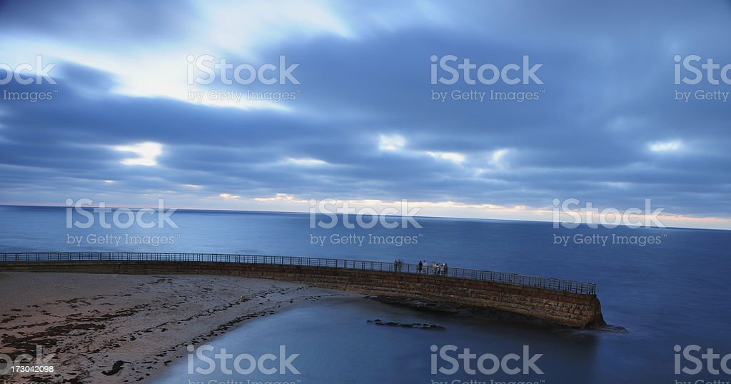 Sea Wall stock photo
