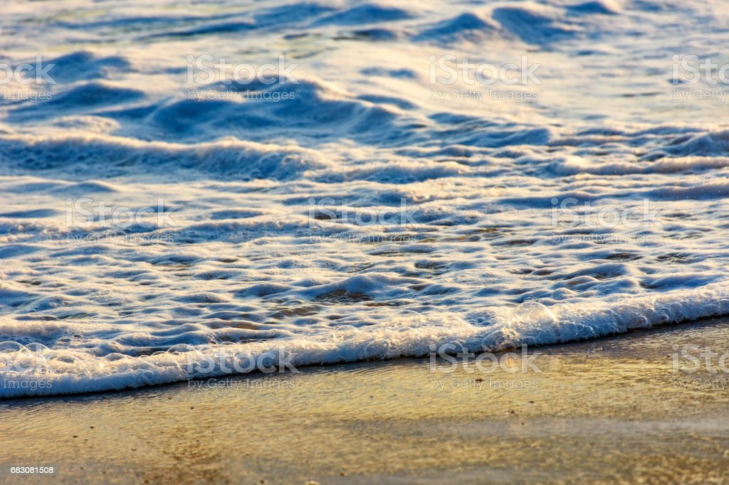 Sea water over sand foto de stock royalty-free
