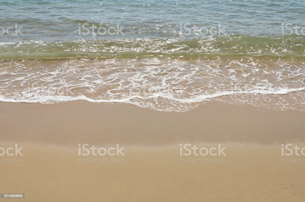 sea water surf to beach royalty-free stock photo
