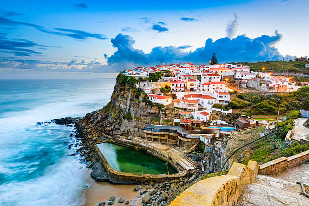 azenhas do mar - portugal stock photos and pictures
