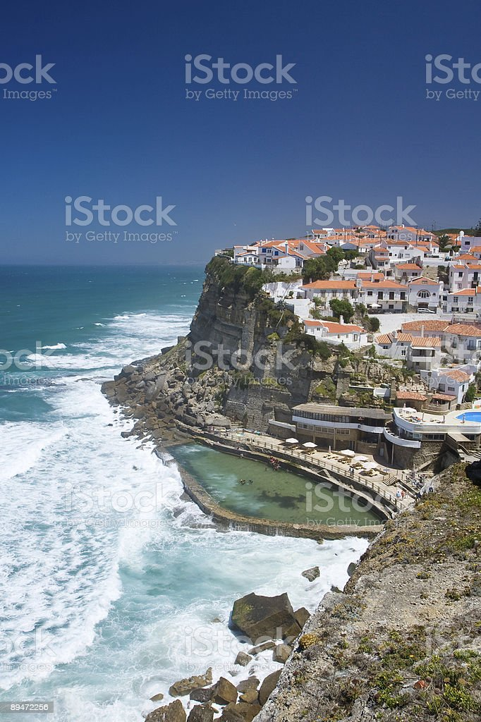 Azenhas do Mar royalty free stockfoto