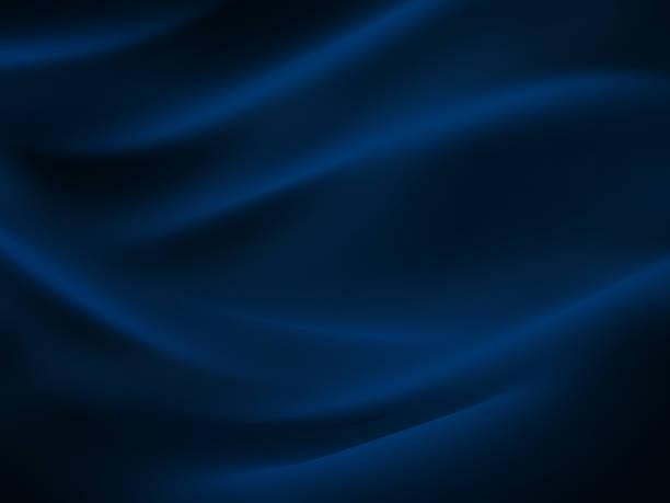 meer welle abstrakte marine blau schwarz neon muster mond licht seide wellige dunkle textur nacht strand party hintergrund - textilien stock-fotos und bilder