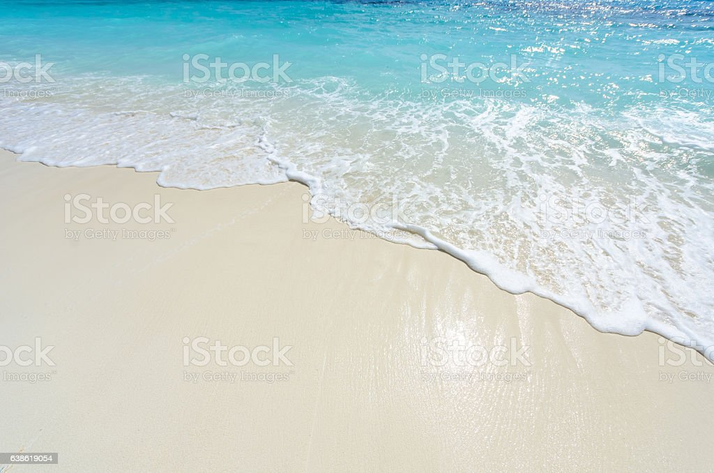 Sea wave and beach sand background - foto de stock
