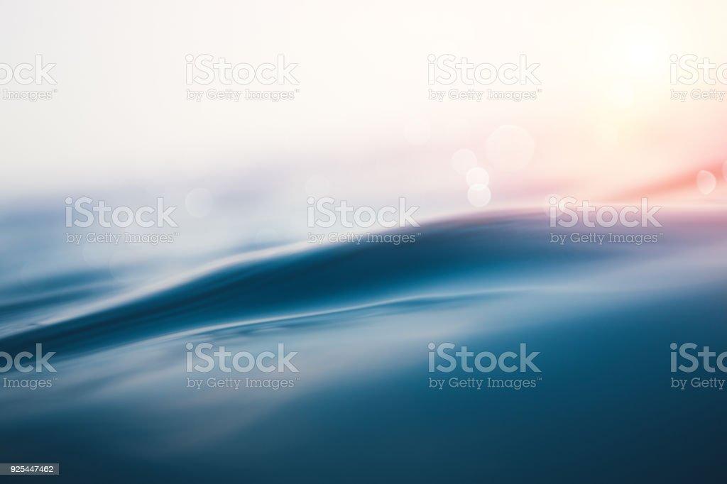 Sea Wave At Sunset stock photo