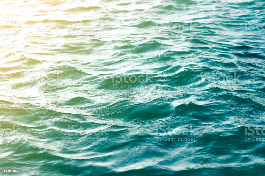 sea wave close up, low angle view vintage style stock photo