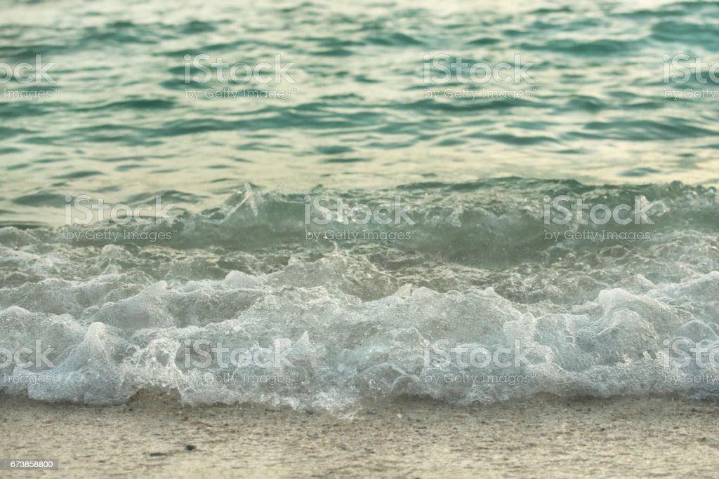 Sea wave hitting on beach royalty-free stock photo