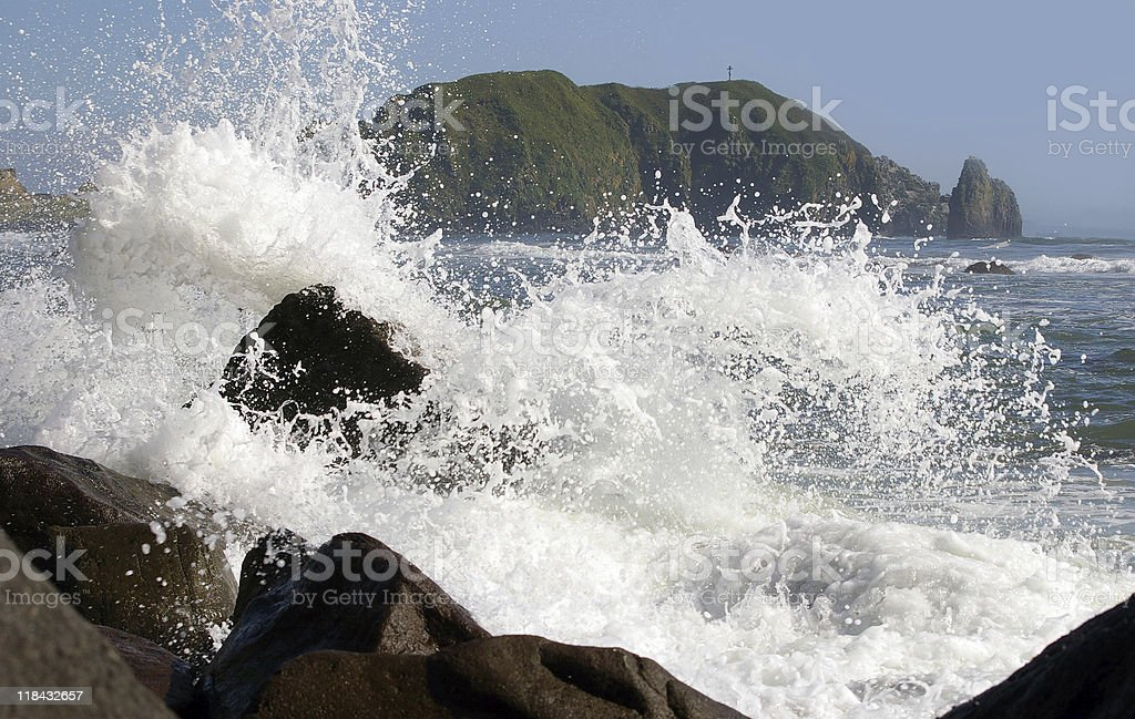 Sea wave royalty-free stock photo