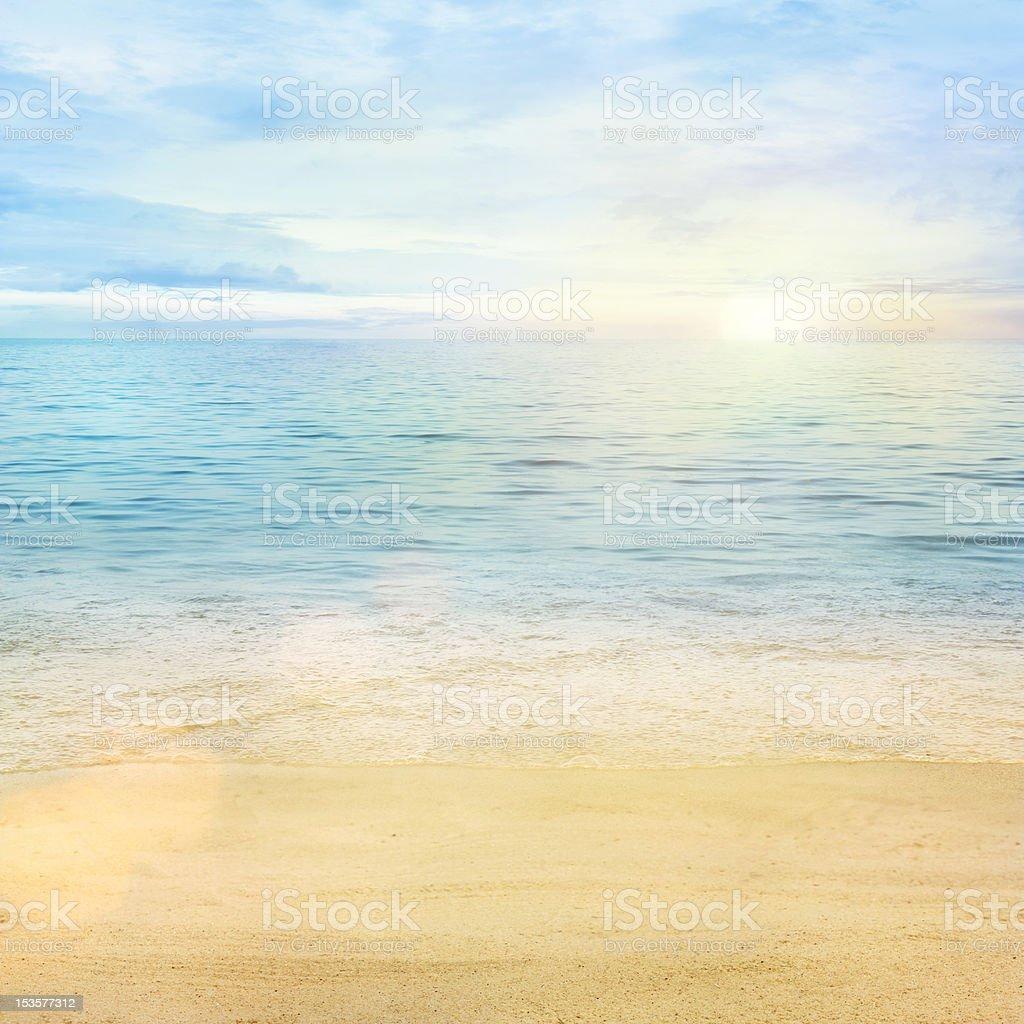 Sea waves background stock photo