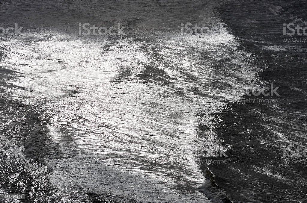 Onde Del Mare In Bianco E Nero Sfondo Di Superficie Fotografie