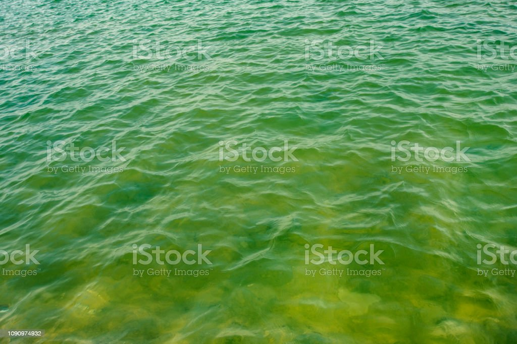 sea waves - green color water stock photo
