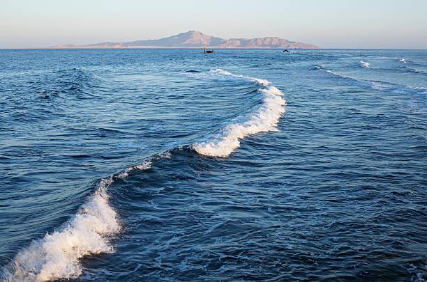 Sea waves landscape background stock photo