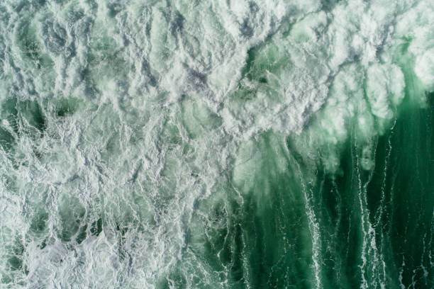 Sea waves nature power. stock photo