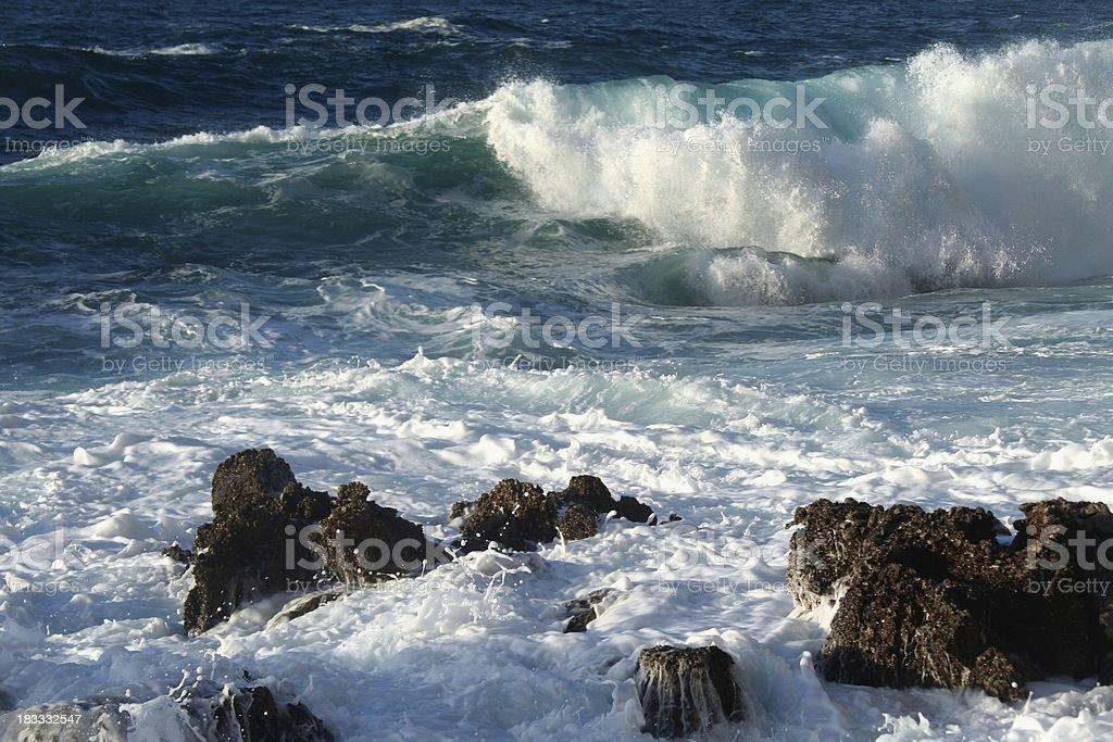 Sea waves royalty-free stock photo