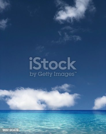Sea with cloud sky in summer