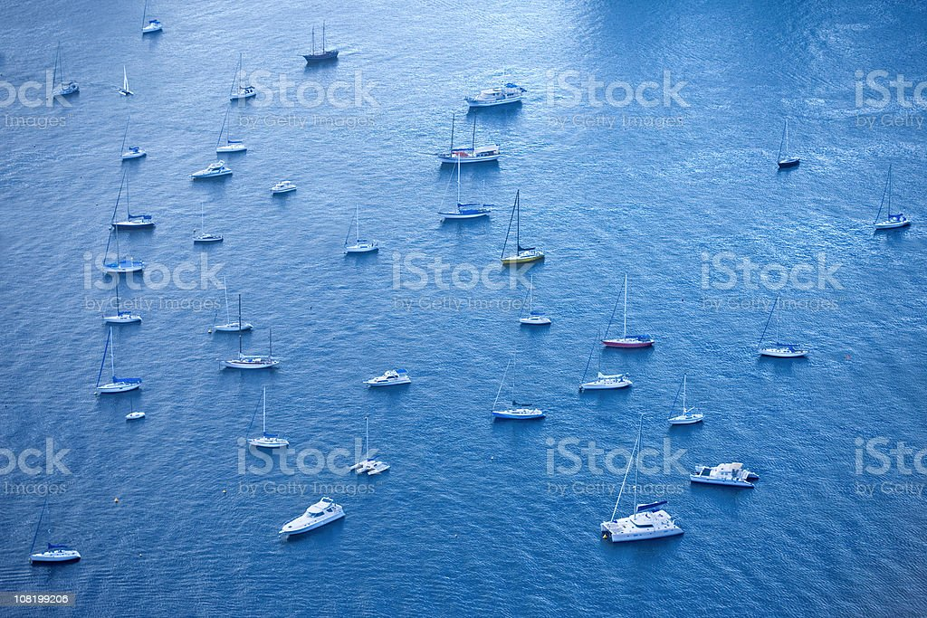 sea with ships royalty-free stock photo