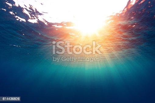 istock Sea with sun 614436826