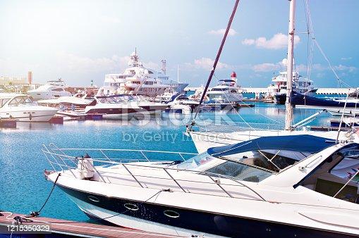 Sea Yacht Club in sunny summer day