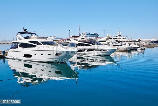 istock Sea yachts in dock 523472090