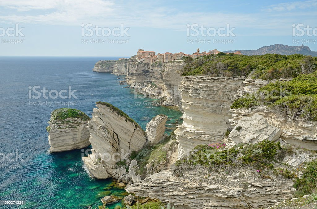 Seacoast near Bonifacio stock photo
