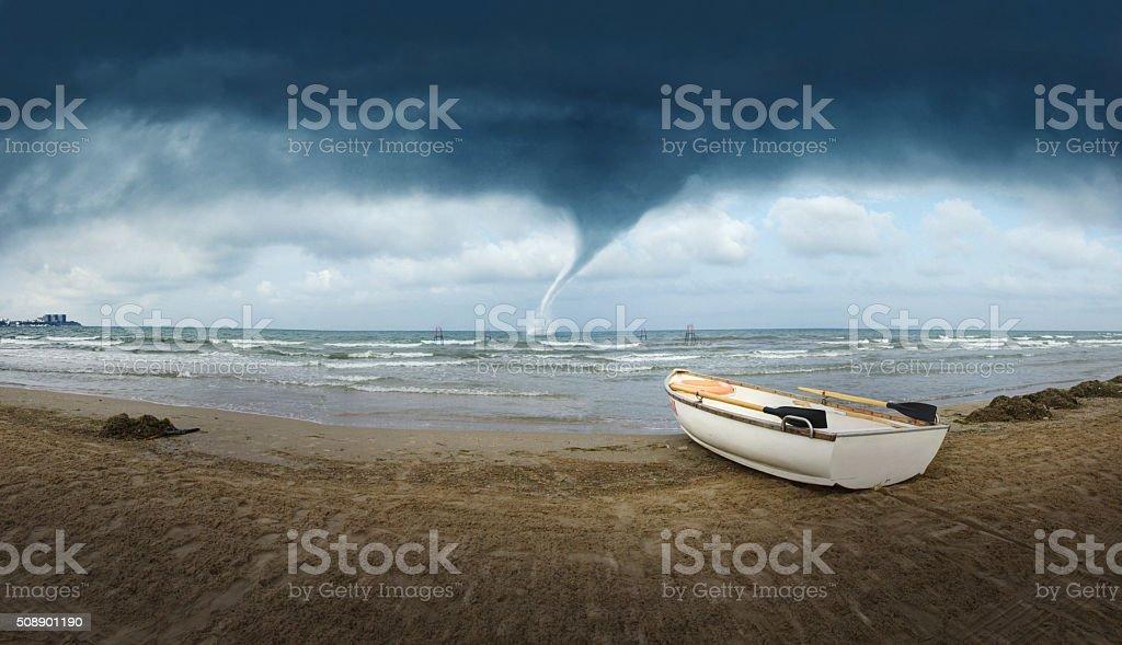 Seacoast Tornado stock photo