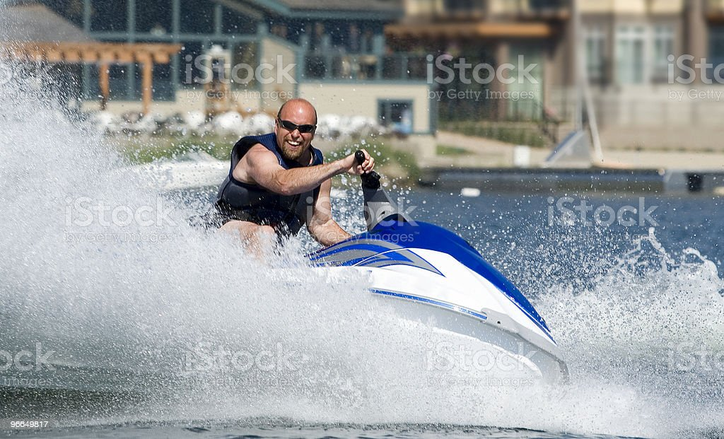seadoo in action royalty-free stock photo
