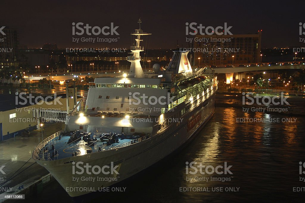 SeaEascape casino boat at Port Everglades stock photo