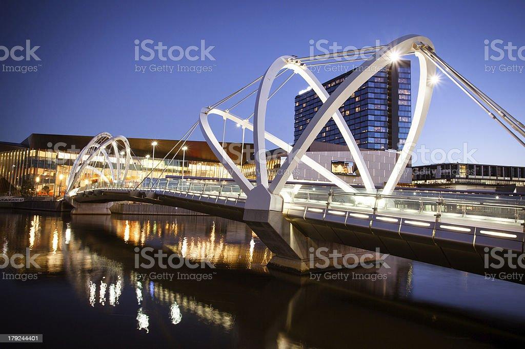 Seafarers Bridge in Melbourne stock photo