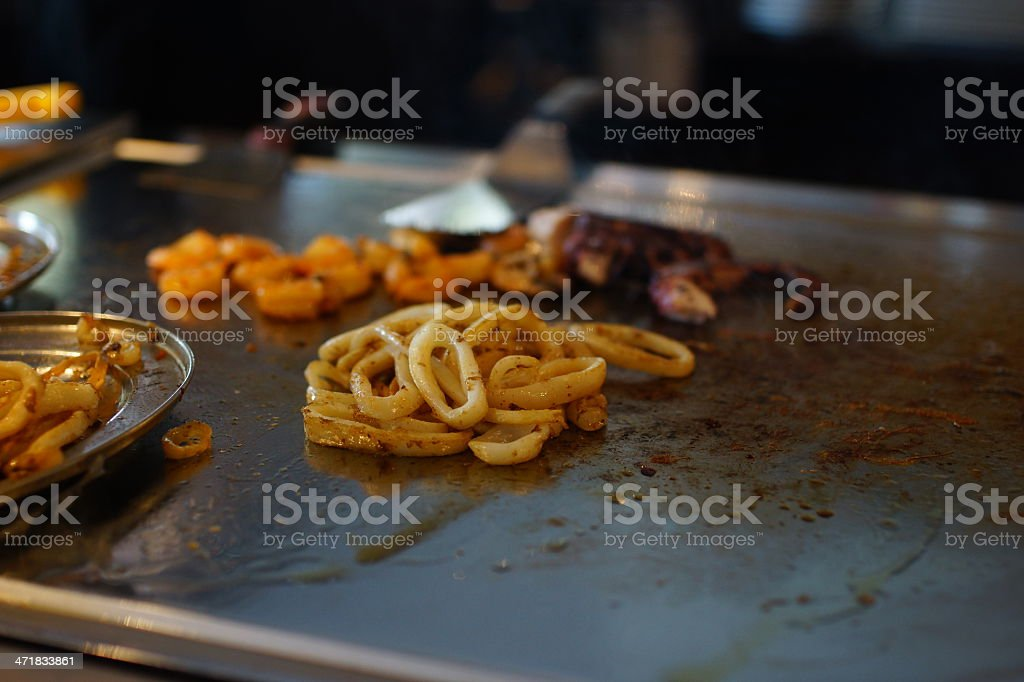 Seafood and its Preparation. royalty-free stock photo