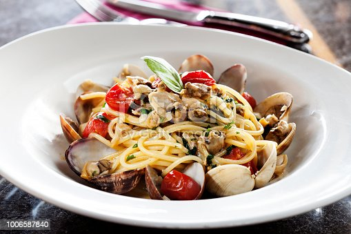 Cooking, Preparing Food, Italian Food, Spaghetti, Seafood,Sicily,Seafood and Spaghetti,
