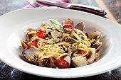 Cooking, Preparing Food, Italian Food, Spaghetti, Seafood,Sicily,Seafood and Spaghetti,