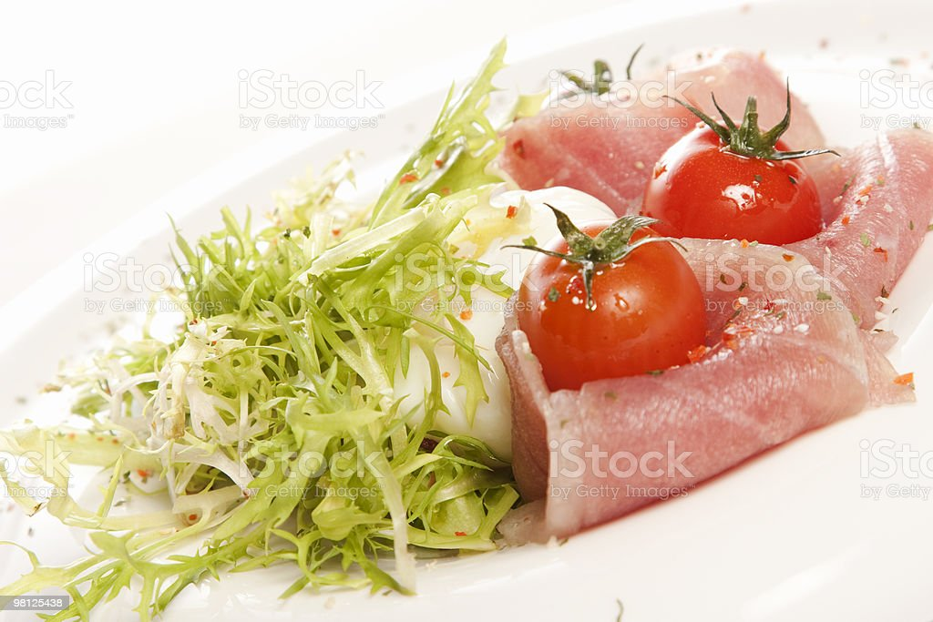 Seafood and vegetables royalty-free stock photo