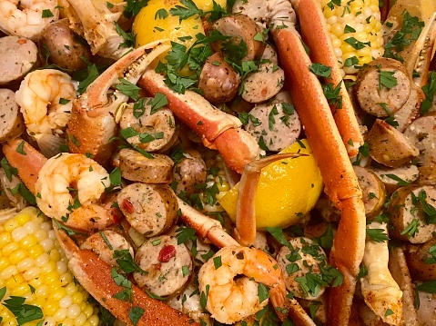 Seafood Boil background
