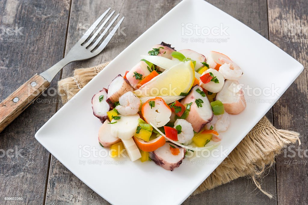 ceviche de mariscos - Foto de stock de Alimento libre de derechos