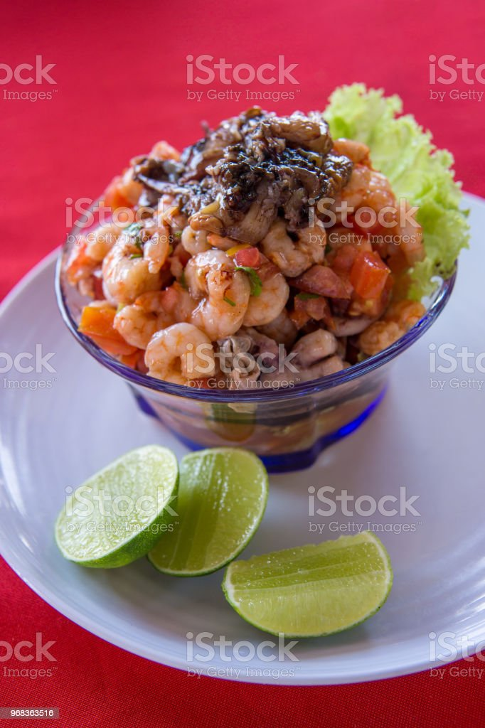 Seafood Ceviche Typical Dish From Central America Mexico