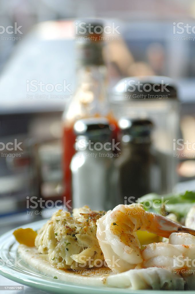 Seafood  Combination royalty-free stock photo