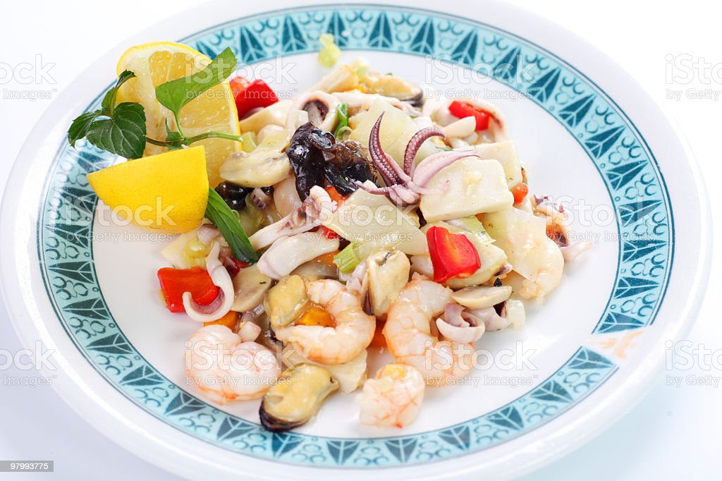 Seafood combinations. royalty-free stock photo