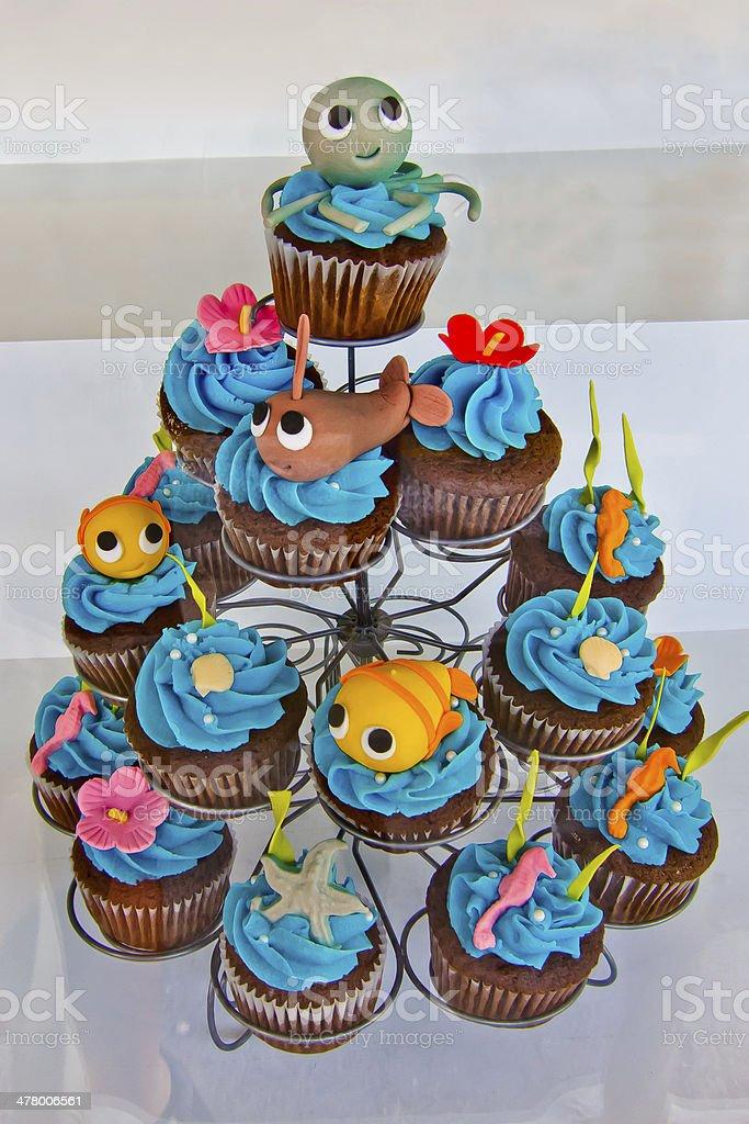 Seafood Cupcakes No2 royalty-free stock photo