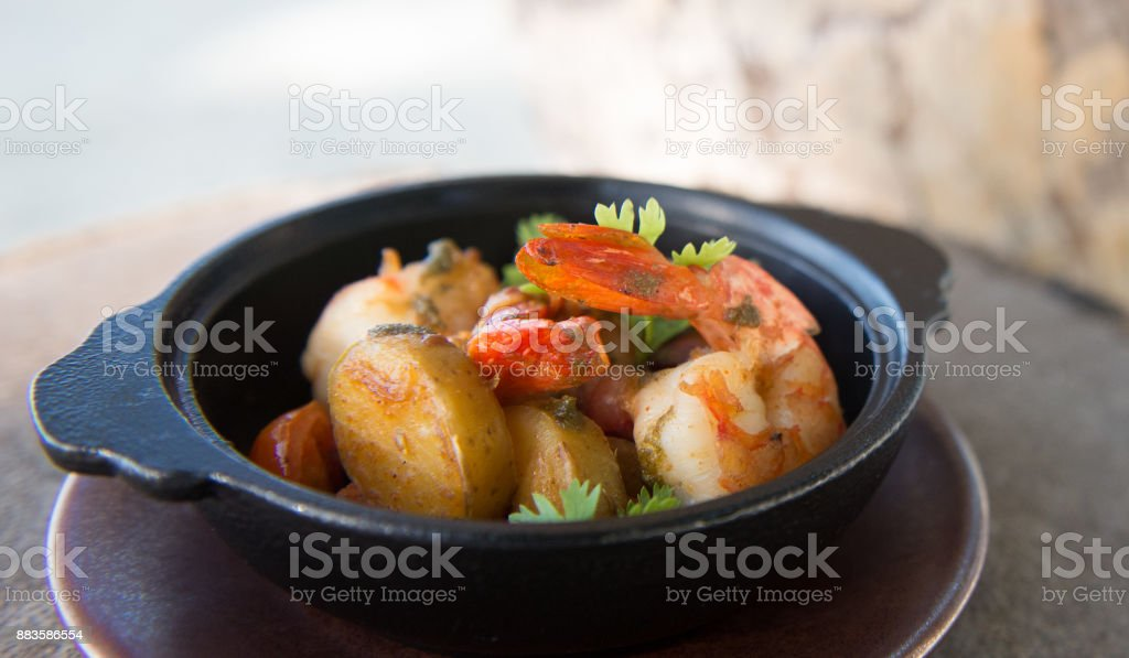 Seafood Curry in Bowl