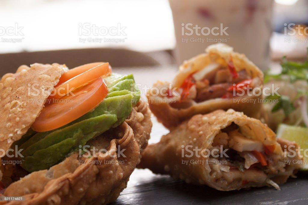 Seafood empanadas stock photo
