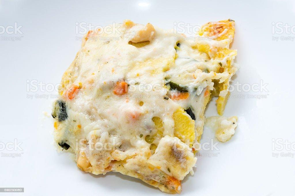 Seafood lasagna, lasagna to the taste of the sea Стоковые фото Стоковая фотография
